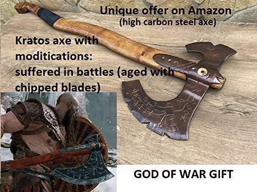 viking axe God of War Leviathan axe viking hatchet Kratos axe cosplay weapon cosplay armor mens gifts cosplay,cosplayer cosplay axe
