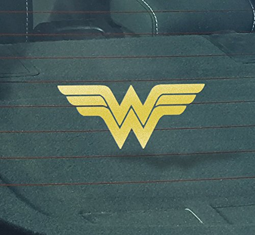 Window Costume (GS2020 2-Pack Wonder Woman Decal Sticker for Car Window, Laptop, Motorcycle, Walls, Mirror and More (2