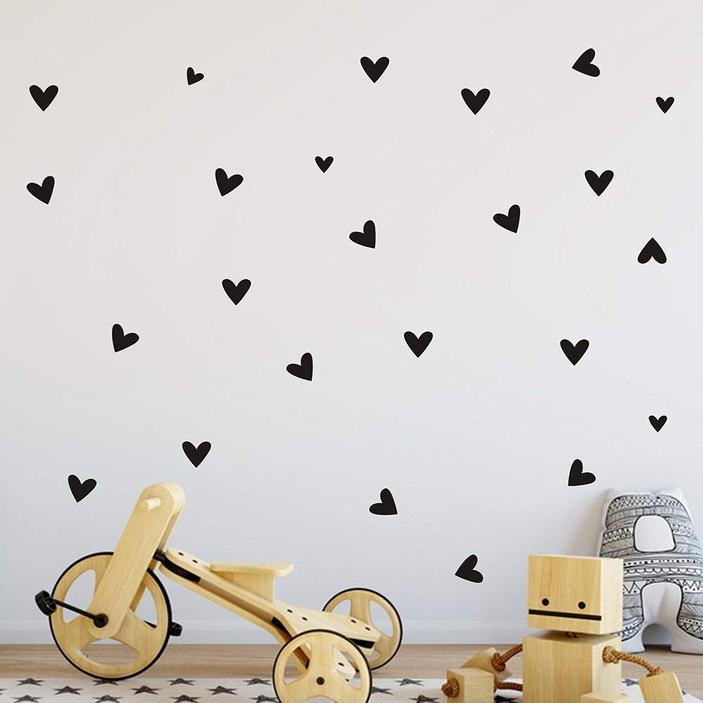 Elevin(TM)  24PCS Love Heart Home Decor Wall Sticker Decal Bedroom Vinyl Art Mural