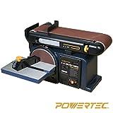 POWERTEC BD4600 Woodworking Belt Disc Sander, 4 X 6-Inch