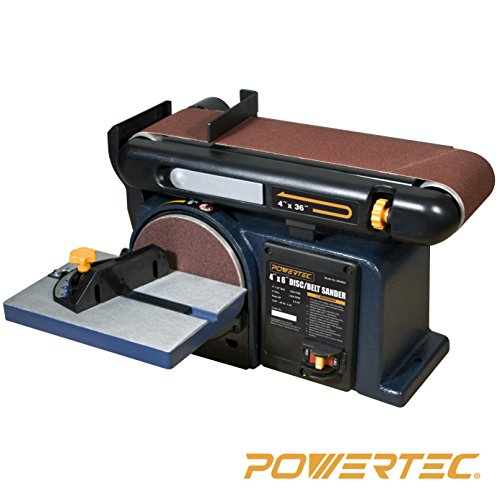 - POWERTEC BD4600 Woodworking Belt Disc Sander, 4 x 6-Inch