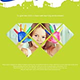 TOWERPRO Large Water Painting Drawing Writing Board Doodle Mat Magic Pen Toy + 2 Magic Pens for Baby Kids Gift, 31.5 X 23.6 Inches (Monochrome)