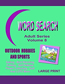 Word Search Adult Outdoor Hobbies ebook product image