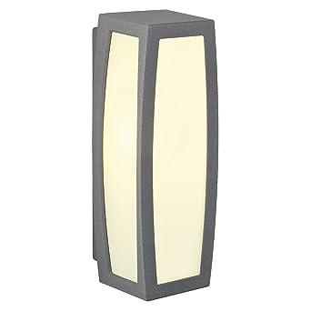 SLV Wandlampe MERIDIAN BOX Mit Bewegungsmelder | Für Die Effektvolle  Außenbeleuchtung Von Wänden Und Hauseingang |