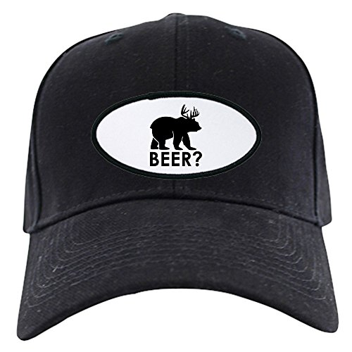 truly-teague-black-cap-hat-deer-plus-bear-equals-beer