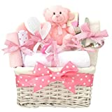 Angel Luxury Baby Girl Gift Basket Hamper Pink/Baby Shower Gifts for Girls/FAST DISPATCH