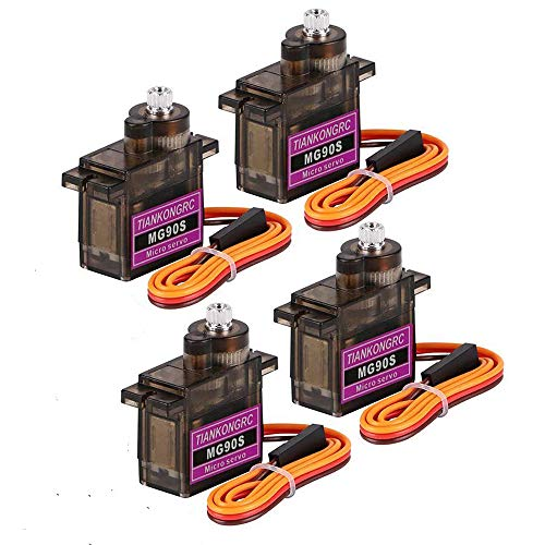 4Pcs MG90S 9g Servo Motor Micro Metal Gear for Robot Car Plane RC Helicopter Arduino