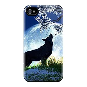 New Snap-on LauraKrasowski Skin Cases Covers Compatible With Iphone 6- Wolf Moon