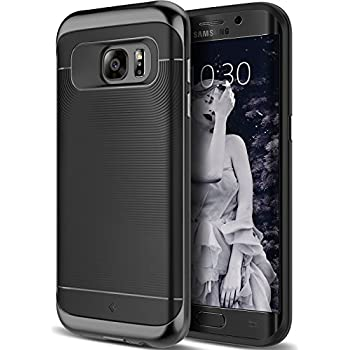 Galaxy S7 Edge Case, Caseology [Wavelength Series] Slim Dual Layer Protective Textured Grip Corner Cushion Design for Samsung Galaxy S7 Edge (2016) - Black