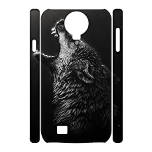 Black Wolves Personalized 3D Case for SamSung Galaxy S4 I9500, 3D Customized Black Wolves Case