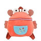 HWD Drum Eyes Plush Stuffed Animal Little Backpack,Plush Toys Doll.(Pink Crab)