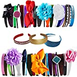 Product review for Satin Headband - 12 Hard Headbands - Ribbon Hairband for Women by CoverYourHair