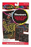 Dinosaurs: Scratch Art Color-Reveal Light Catcher Pack + FREE Melissa & Doug Scratch Art Mini-Pad Bundle [59572]