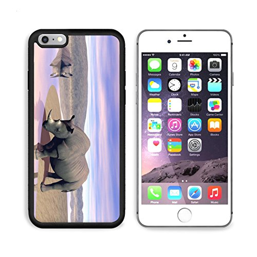 - MSD Premium Apple iPhone 6/6S Plus Aluminum Backplate Bumper Snap Case iPhone6 Plus IMAGE ID: 15062084 Thirsty rhinoceros drinking water next to another having a bath in the savannah by evening light