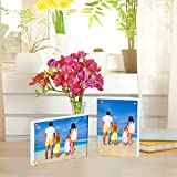 Meetu Acrylic Picture Frame 4x6,Clear Freestanding