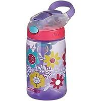 Contigo 50916 Gizmo Flip Autospout Water Bottle, Flowers 420 ml Capacity, Multicolored