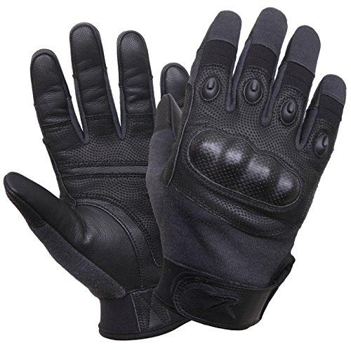 Rothco Carbon Fiber Hard Knuckle Cut/Fire Resistant Gloves, L