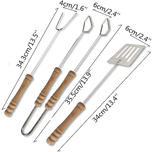 Fasclot 3pcs Barbecue Tools Set Grilling Tongs Fork Spatula CLainless CLeel BBQ Utensil Home & Garden Kitchen,Dining & Bar for Fourth of July