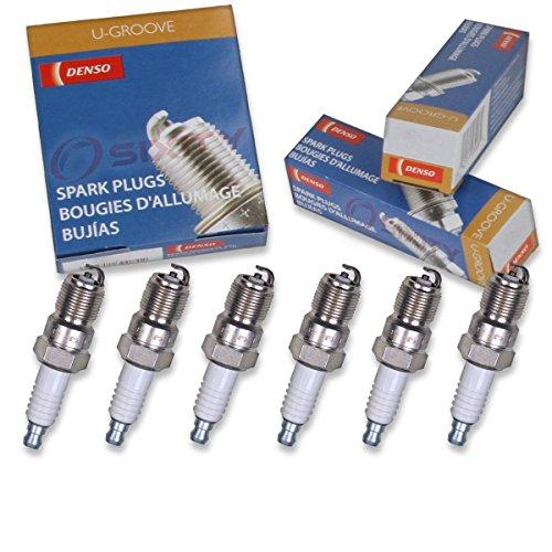 6 pcs Denso Standard U-Groove Spark Plugs 1990-2003 Buick Regal 3.1L 3.8L V6 (Buick Regal Ground)