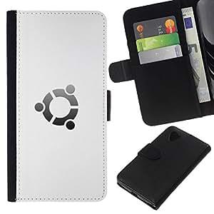 NEECELL GIFT forCITY // Billetera de cuero Caso Cubierta de protección Carcasa / Leather Wallet Case for LG Nexus 5 D820 D821 // Portal Blanca