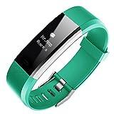 Vacio Multi-function Smart Watch Pretty Color Screen IP67 Waterproof Blood Pressure & Heart Rate & Sleep Monitoring Wristband Bracelet Sports Smart Watch for kids men women.(Green)