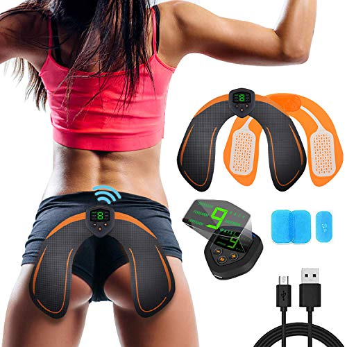 ABS Stimulator Buttocks/Hips Trainer with LCD Display & USB Rechargeable & Butt Lifting Buttocks Enhancement Device Sexy Hips Shaping Equipment for Men and Women (Lcd Lift)