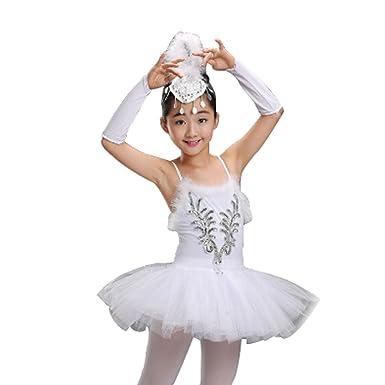 Perlen Inlefen Kleid Pailletten Mädchen Blume Ärmelloses Ballett OXZiPku
