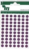 Ivy 232720 - Pegatinas con forma de círculo (8mm), color morado
