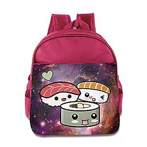 Funny Sushi Squad Kids Backpack School Bag For Boys/girls Pink