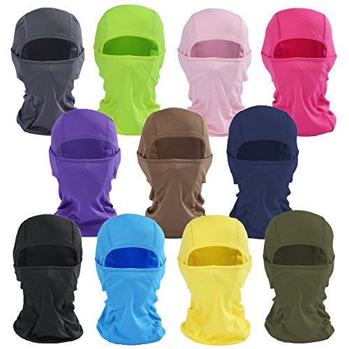 Candy Color Ultra Thin Ski Face Mask Under A Bike/Football Helmet Tactical Balaclava Hood for Motorcycle Snowboard Cycling Outdoors in Winter Neck Warmer or Lightweight Windproof Hat (Helmet Colour)