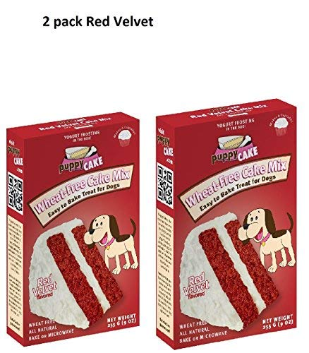 Mix Emerald (Puppy Cake Red Velvet Cake Mix 9oz by Puppy Cake- 2 pack)