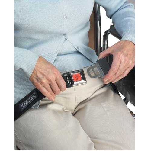 Physical Therapy Aids 081627132 Seat Belt with Buckle Sensor 65''