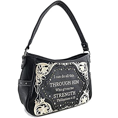 Justin West Through Him Who Gives Me Strength Philippians 4:13 Bible Verse Purse