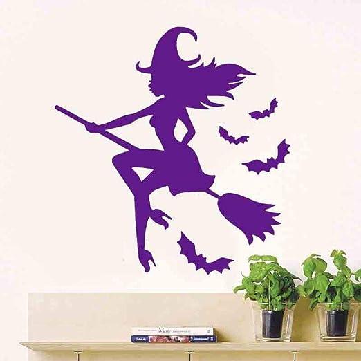 zqyjhkou Happy Witch Room On The Broom Vinilo Decorativo de ...