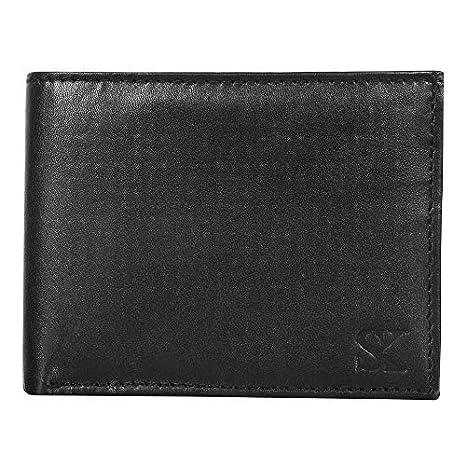 STYLER KING Men Black Genuine Leather Wallet