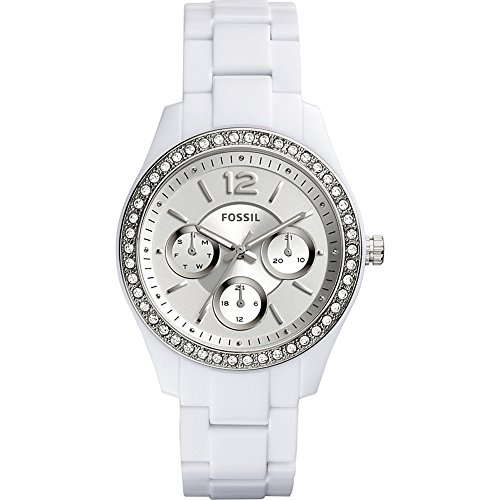 Fossil Women's ES3813 Stella Multifunction White Resin Watch