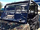 A&S AUDIO AND SHIELD DESIGNS 2015-2018 POLARIS RANGER 570 MID SIZE, 2015-2018 POLARIS RANGER ETX, EV, EV LI-ION 1 /4'' POLYCARBONATE FOLD DOWN WINDSHIELD