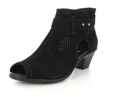 Earth Womens Intrepid Black Sandal - 5 M