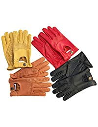 Prime Sports Men's Classic Genuine Soft Unlined Leather Driving Gloves D-508