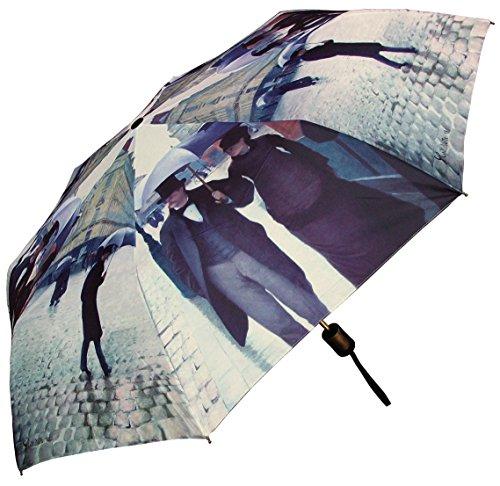 RainStoppers W3523 Open Auto Close Mini City Print Caillebotte Paris Street Rainy Day Arc, 42