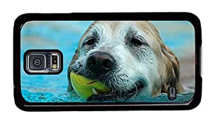 Hipster Samsung Galaxy S5 Cases silicone Dog Swimming PC Black for Samsung S5