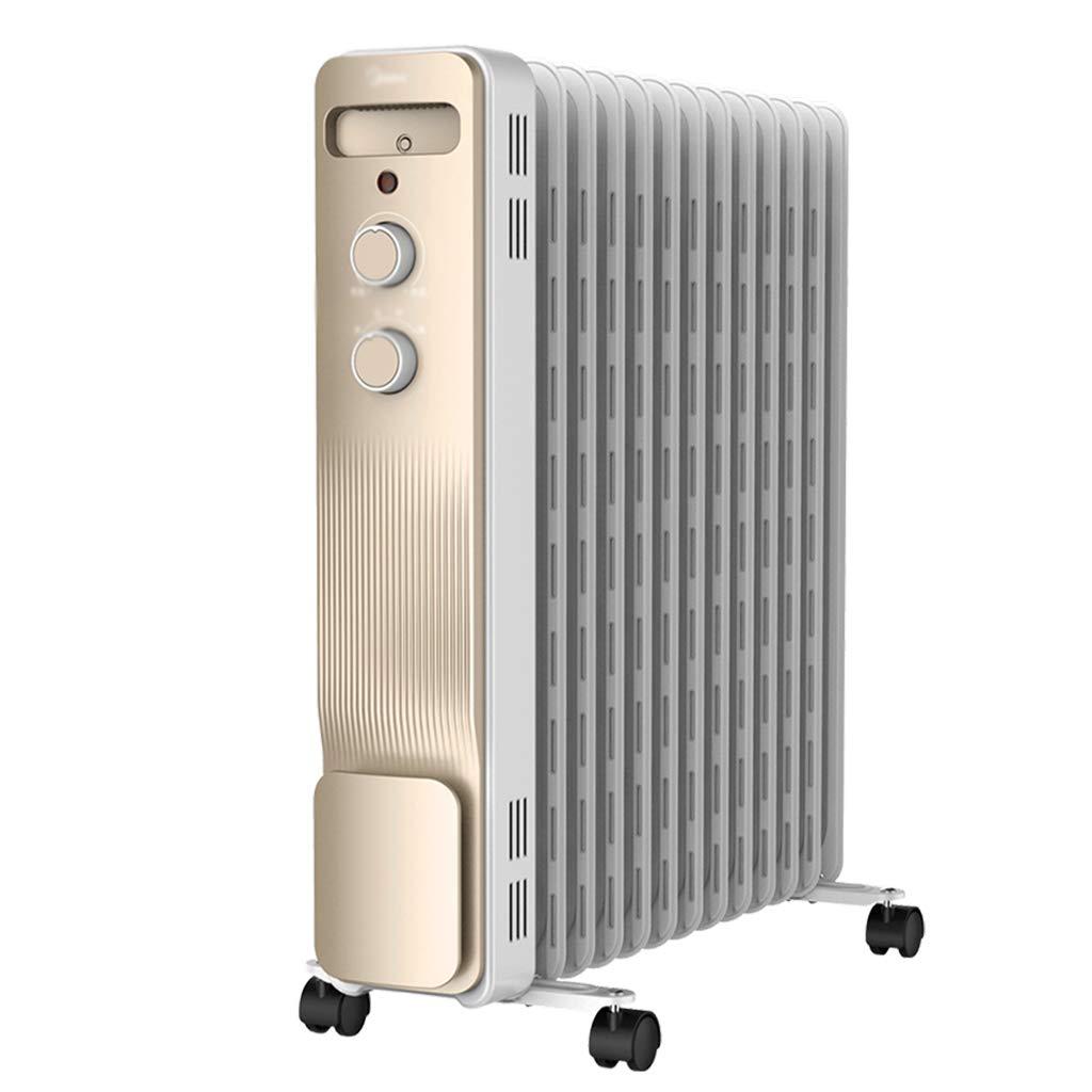 Acquisto riscaldatore Riscaldatore Elettrico Riscaldamento Elettrico Domestico 13 Pinne Ampia Area di Riscaldamento (Color : Bianca, Size : 59 * 28 * 64cm) Prezzi offerte