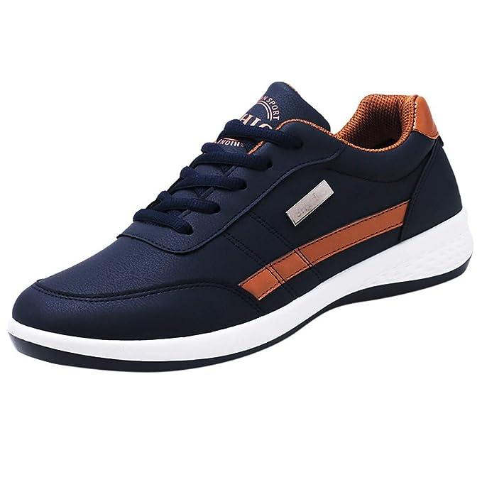 beautyjourney Zapatos Casuales de los Hombres Zapatillas Transpirables Zapatos de Trekking Zapatos con Cordones para Correr Zapatos de Fitness: Amazon.es: ...