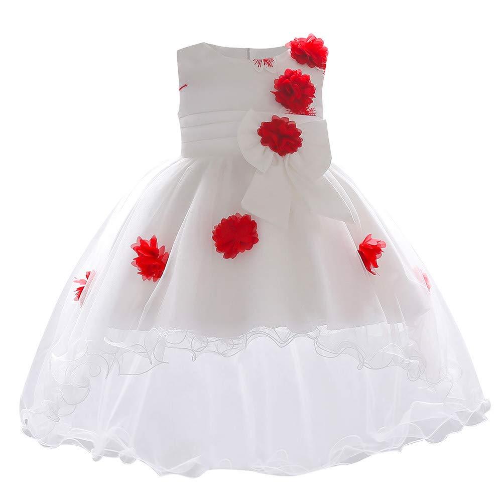 Jimmackey Neonata Bambina Elegante Cerimonia Vestito Bowknot Damigella Tutu Abito Principessa Partito Asimmetrica Dress