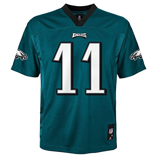 Carson Wentz Philadelphia Eagles NFL Youth Green Home Mid-Tier Jersey (Youth X-Large 18-20)