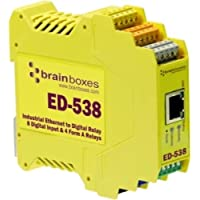 Brainboxes ED-538 ETHERNET TO DIGITAL IO RELAY 8 DIGITAL INPUT & 4 FORM A RELAYS