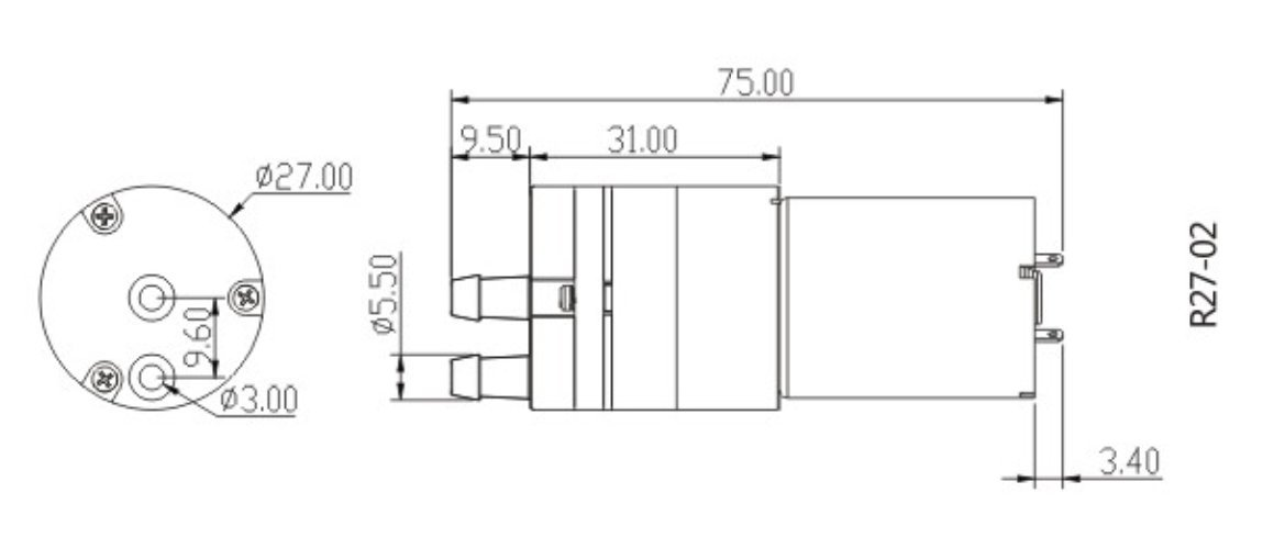 EMODI DC 12V Micro Diaphragm Pump Mini Pumping Air Pump Vacuum Pump