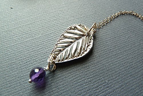 Sterling Silver Eco-friendly Artisan Hand-forged Fine Silver Leaf Pendant Necklace