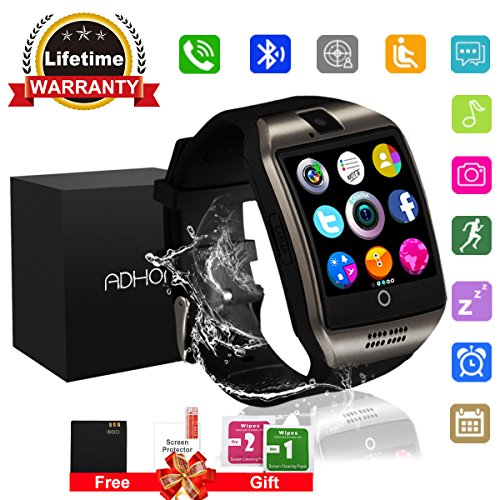 Bluetooth Smart Watch Touchscreen With Camera Unlocked Watch Cell Phone With Sim Card Slot Smart Wrist Watch Waterproof Smartwatch Phone For Android Samsung Ios Iphone 7 6S Men Women Kids