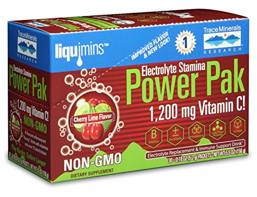 Trace Minerals Electrolyte Stamina Power Pak - Cherry Limeade 30 Pkts